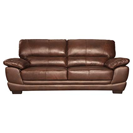 Ashley Furniture Signature Design - Fontenot Contemporary Leather Sofa - Chocolate