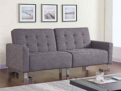 Casabianca Furniture Spezia Collection Fabric Sofa Bed, Gray
