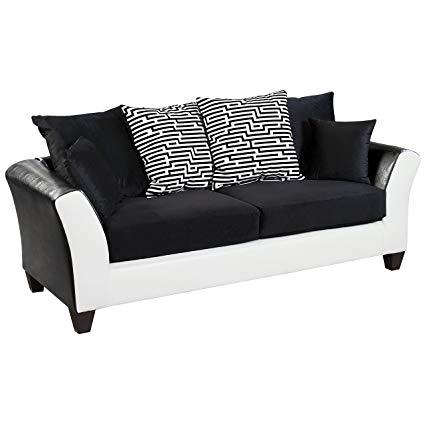 Flash Furniture Riverstone Implosion Black Velvet Sofa
